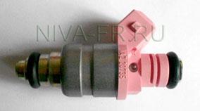двухфакельная форсунка розовая толстая 20735