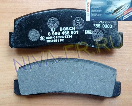 колодки передние нива, Bosch