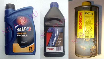 тормозная жидкость нива шевроле, TRW и Bosch
