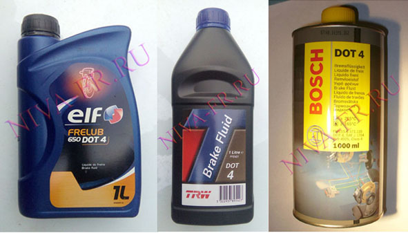 Тормозная жидкость Elf-Total, TRW, Bosch